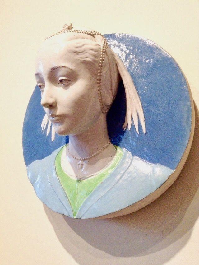 ヴェッキオ宮殿 女の頭部 アンドレア・デッラ・ロッビア