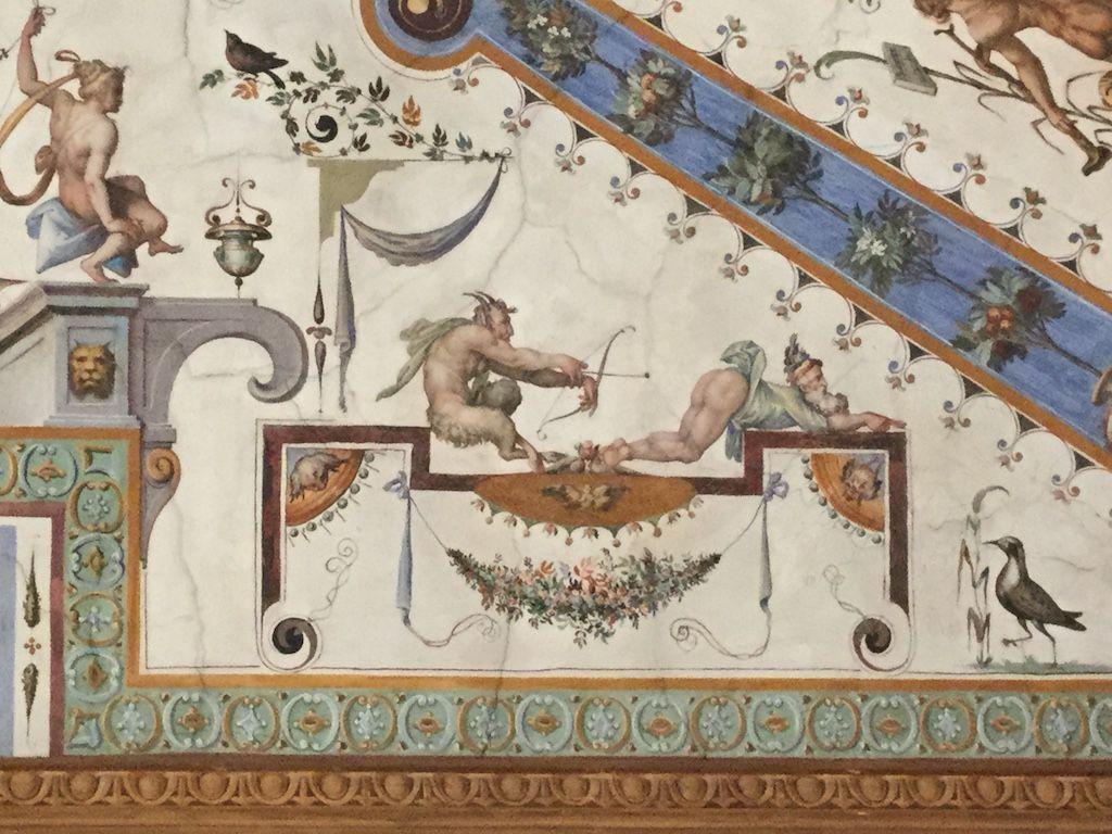 ウフィツィ美術館 第一廊下 グロテスク様式文様