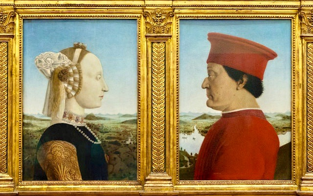 ウフィツィ美術館 ピエロ・デッラ・フランチェスカ ウルビーノ公爵夫妻の肖像