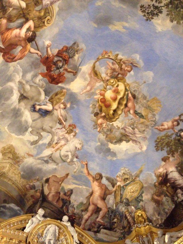 ピッティ宮殿 パラティーナ美術館 天井画メディチ紋章