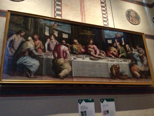 サンタ・クローチェ教会 ヴァザーリ 最後の晩餐
