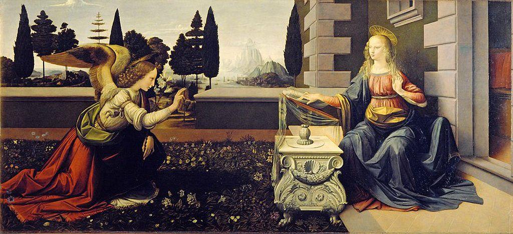ウフィツィ美術館 受胎告知 レオナルド