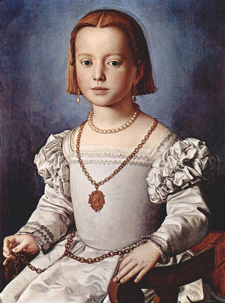 ウフィツィ美術館 ビア・デ・メディチの肖像 ブロンズィーノ