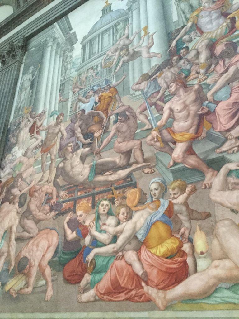 サン・ロレンツォ教会 ブロンズィーノ フレスコ画