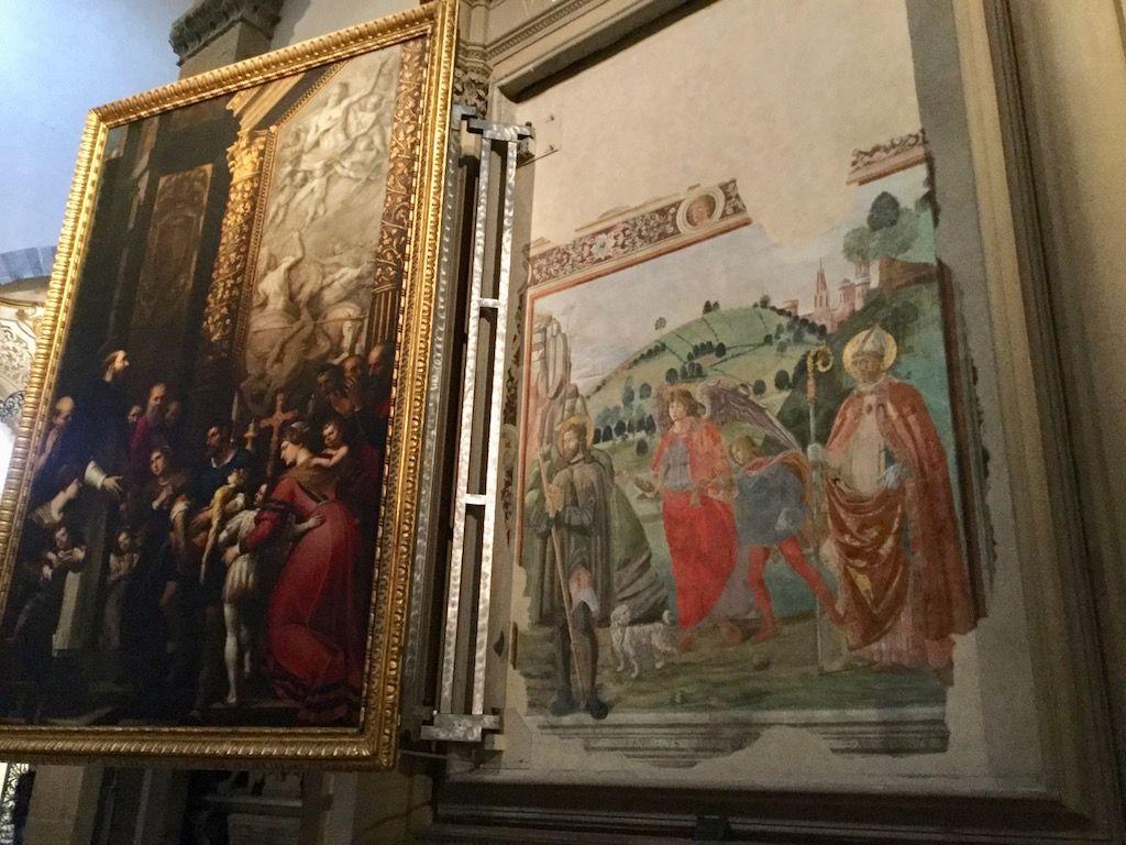 サンタ・マリア・ノヴェッラ教会 出て来たフレスコ画