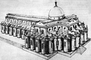 ブルネッレスキ サント・スピリト教会設計再現図