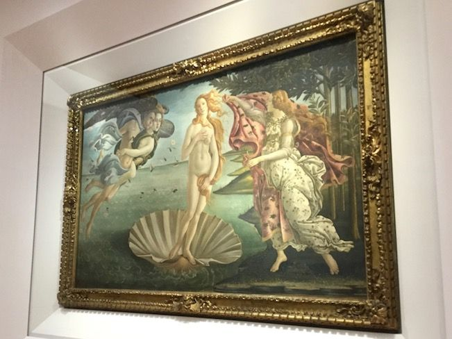 ウフィツィ美術館 ボッティチェッリ ヴィーナスの誕生