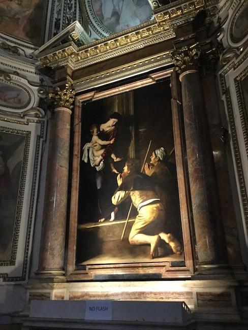 聖アゴスティーノ教会 カラヴァッジョ
