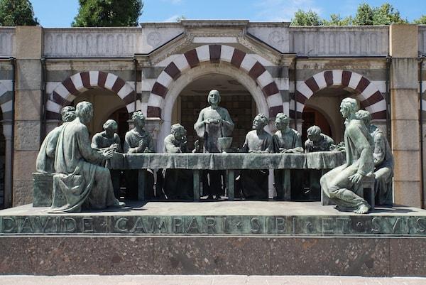 ミラノ モニュメンタル墓地 最後の晩餐・大