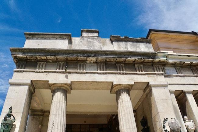ミラノ 墓地 ギリシャ式神殿