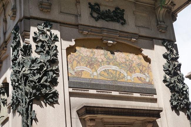 ミラノ 墓地 モザイクと装飾
