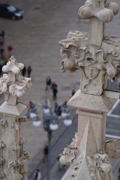 ミラノ大聖堂 ツンツン細部