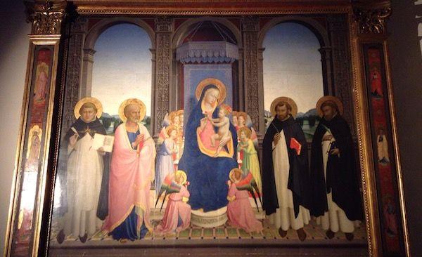 サン・ドメニコ教会内部 ベアート・アンジェリコ