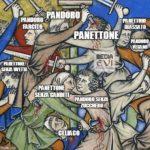 パネットーネとパンドーロの合戦、中世風クリスマス
