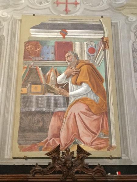 ボッティチェッリ 聖アゴスティーノ