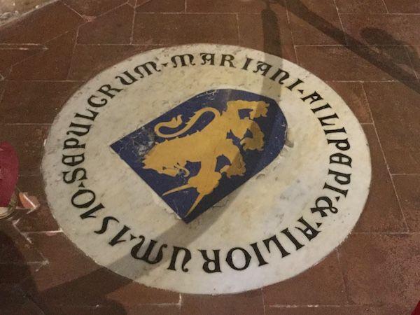 ボッティチェッリの墓 オンニッサンティ教会