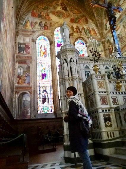 クーポラと雲 プロフィール サンタ・マリア・ノヴェッラ教会にて
