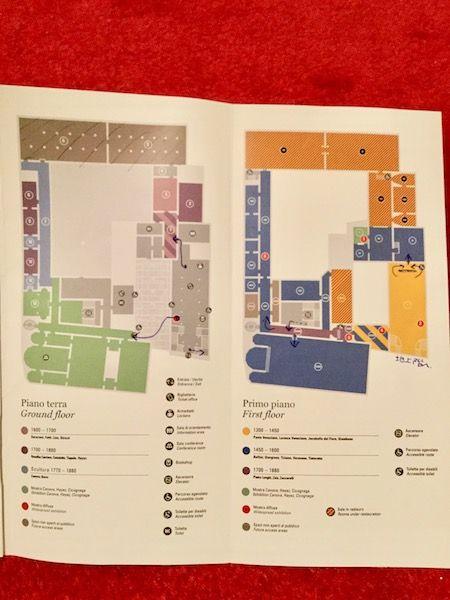 アカデミア美術館 見取り図
