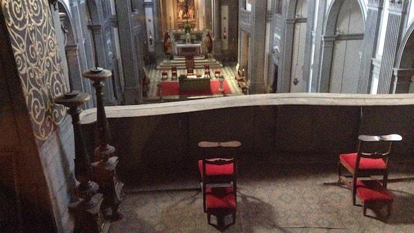ヴァザーリの回廊 サンタフェリチタ教会