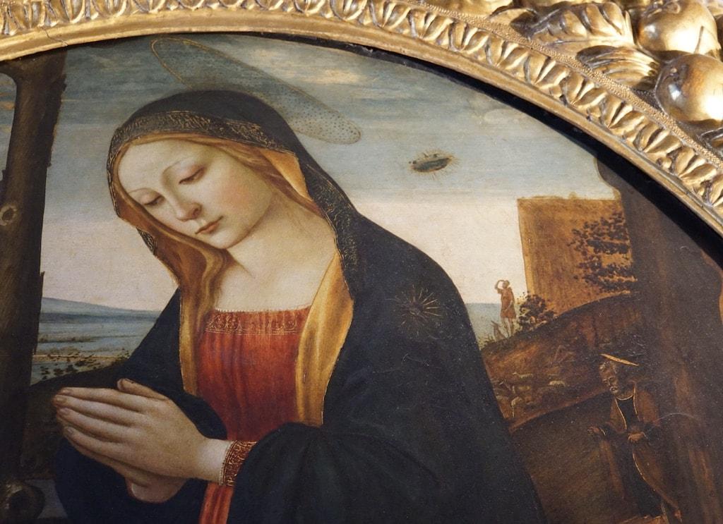 ufoの聖母子 ヴェッキオ宮殿