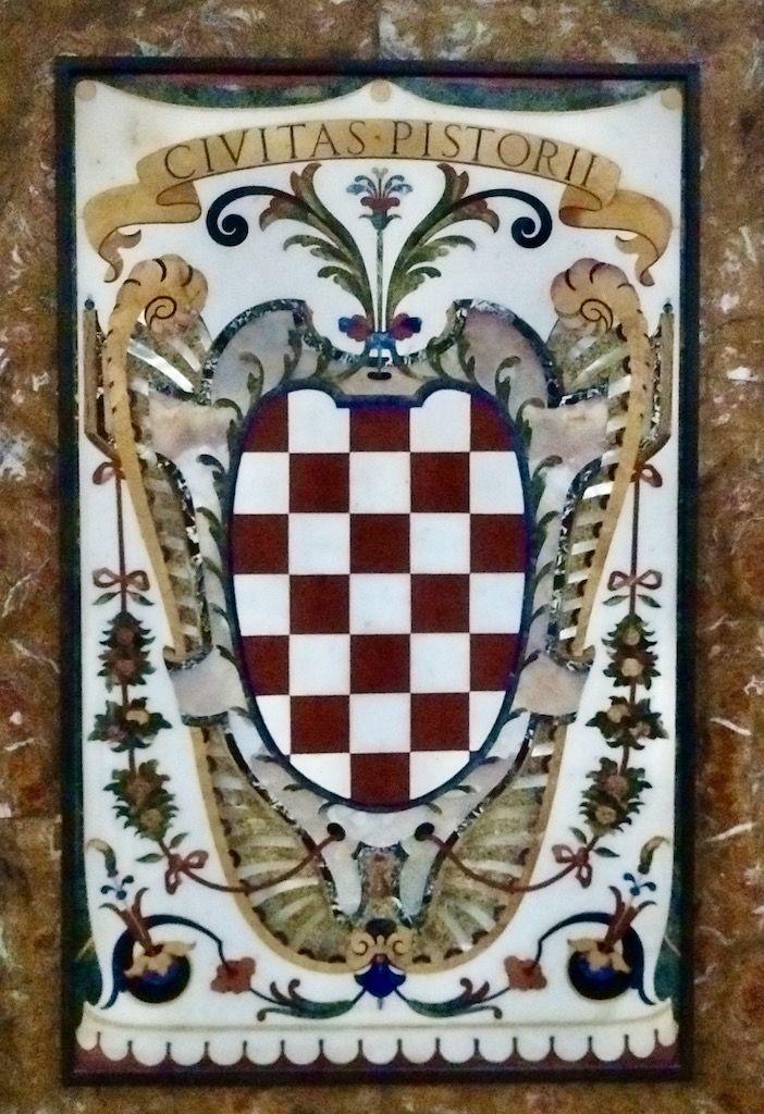 フィレンツェモザイク ピストイアの紋章