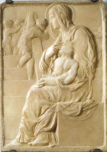 階段の聖母子 ミケランジェロ