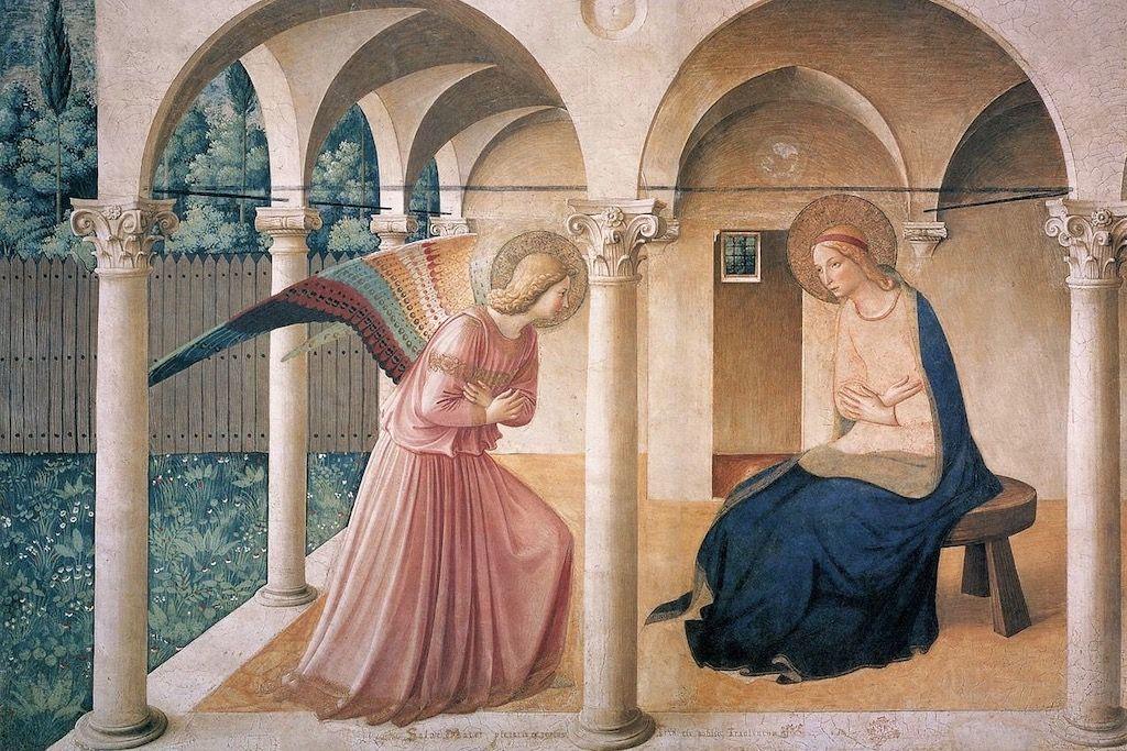 サン・マルコ美術館 アンジェリコ 受胎告知