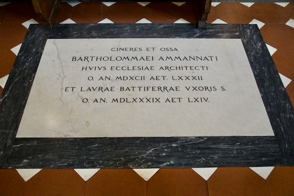 バルトロメオ・アンマンナーティの墓