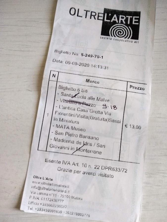 マテーラ 共通チケット